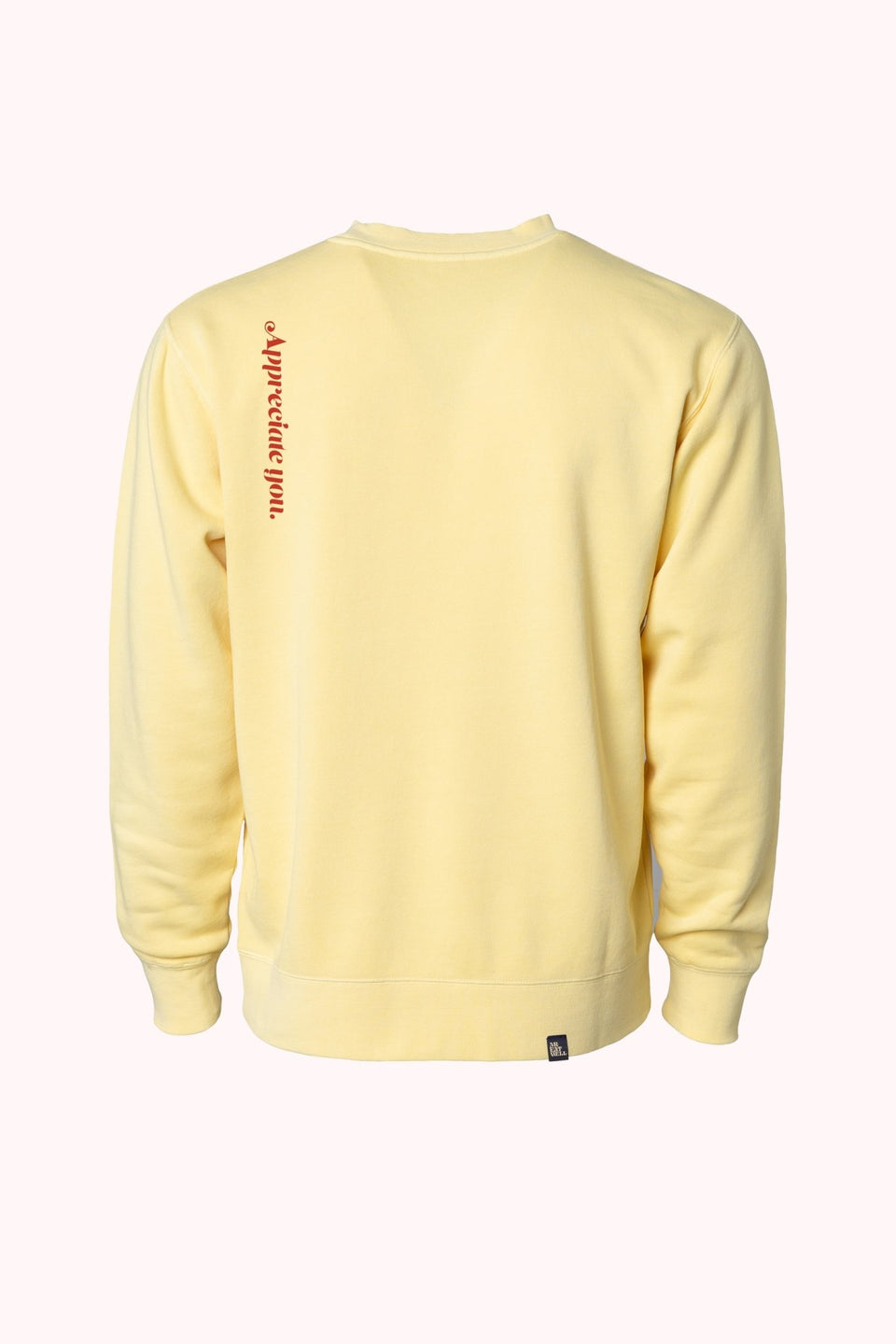 """Relax"" PB Cup Crew in Limoncello Yellow (In Stock - Ships Next Day!) - MR EATWELL"
