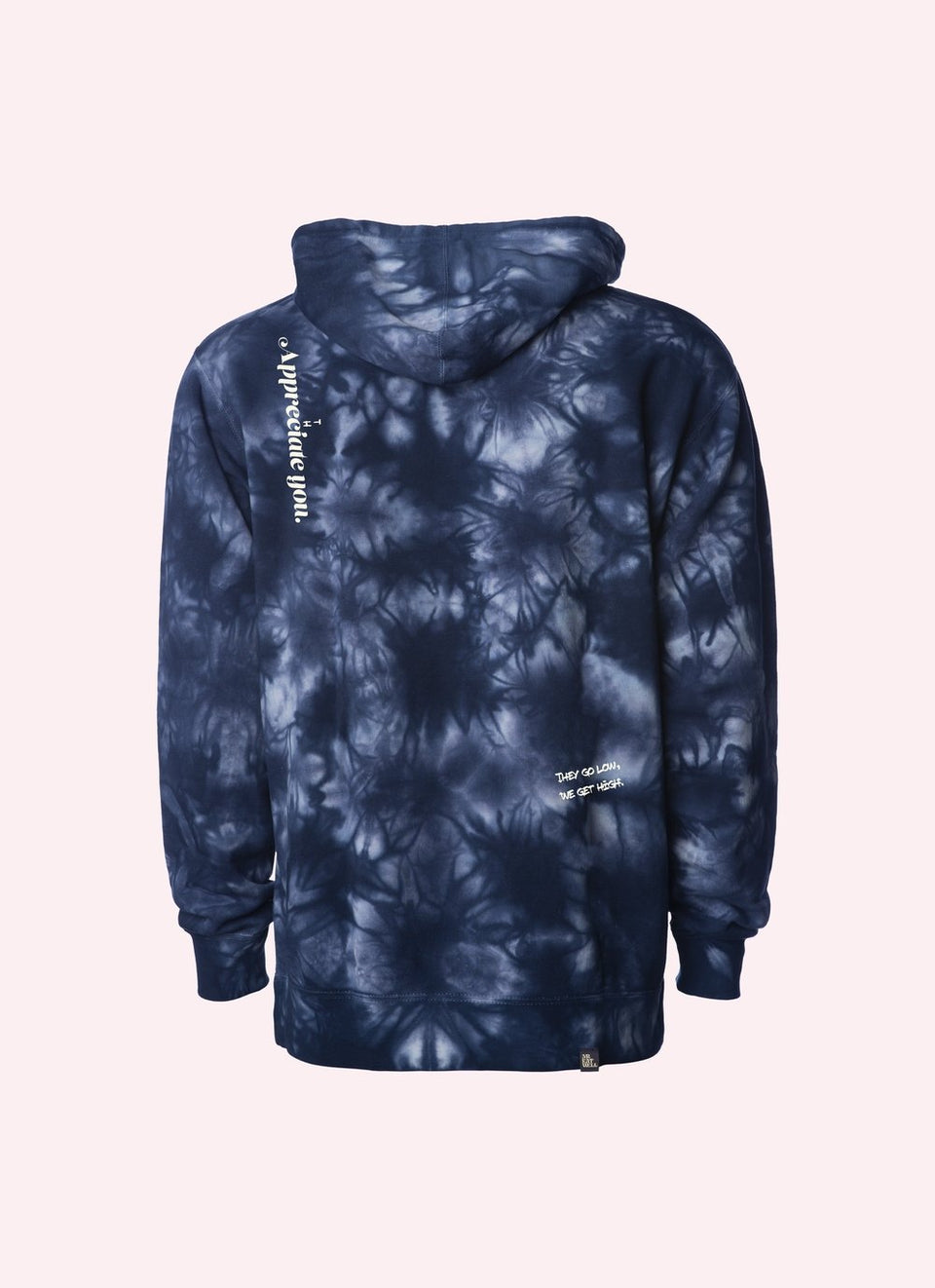 "ROLLUROWN Candy Bar Hoodie w/ Doob Tube + Special Pocket in ""Hot Boxed"" Navy Tie Dye - MR EATWELL"