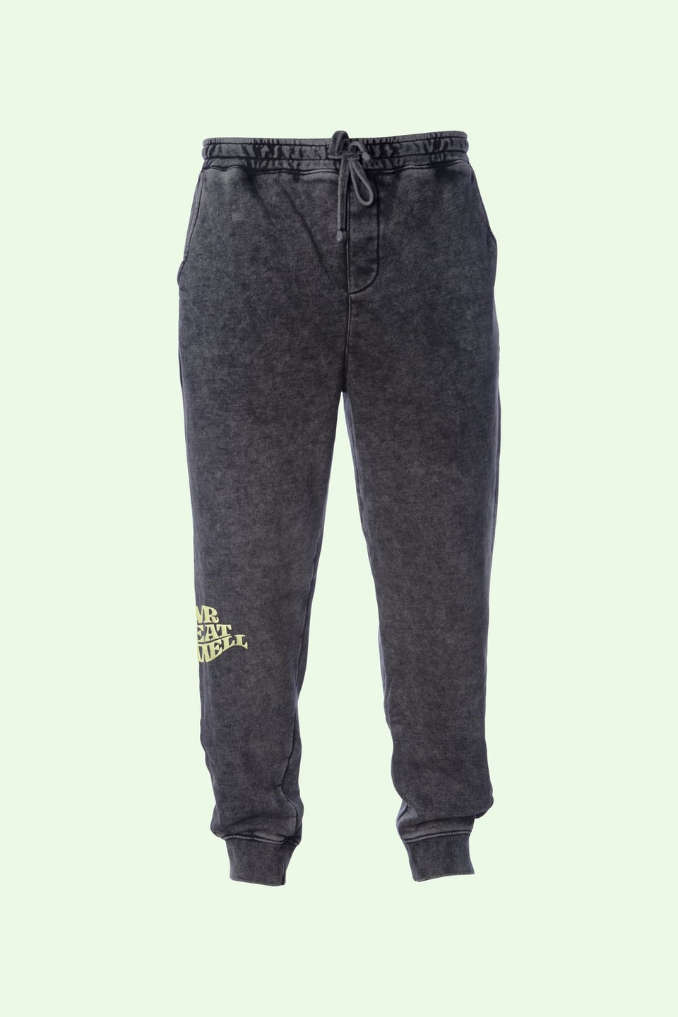 "Sweatpants in Mineral Wash ""Ash"" - MR EATWELL"