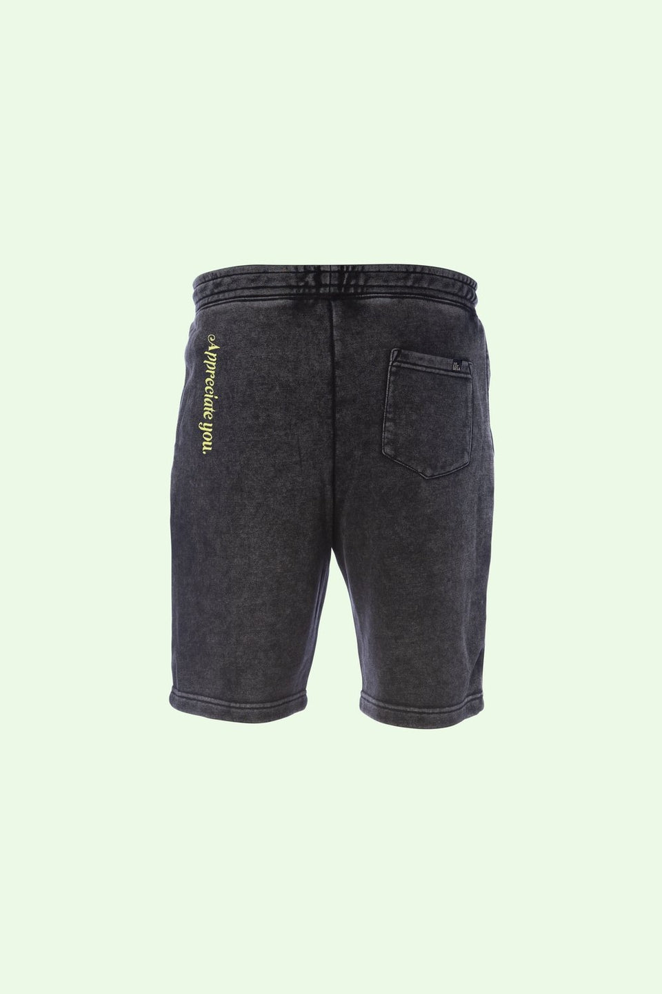 "Sweatshorts in Mineral Wash ""Ash"" - MR EATWELL"