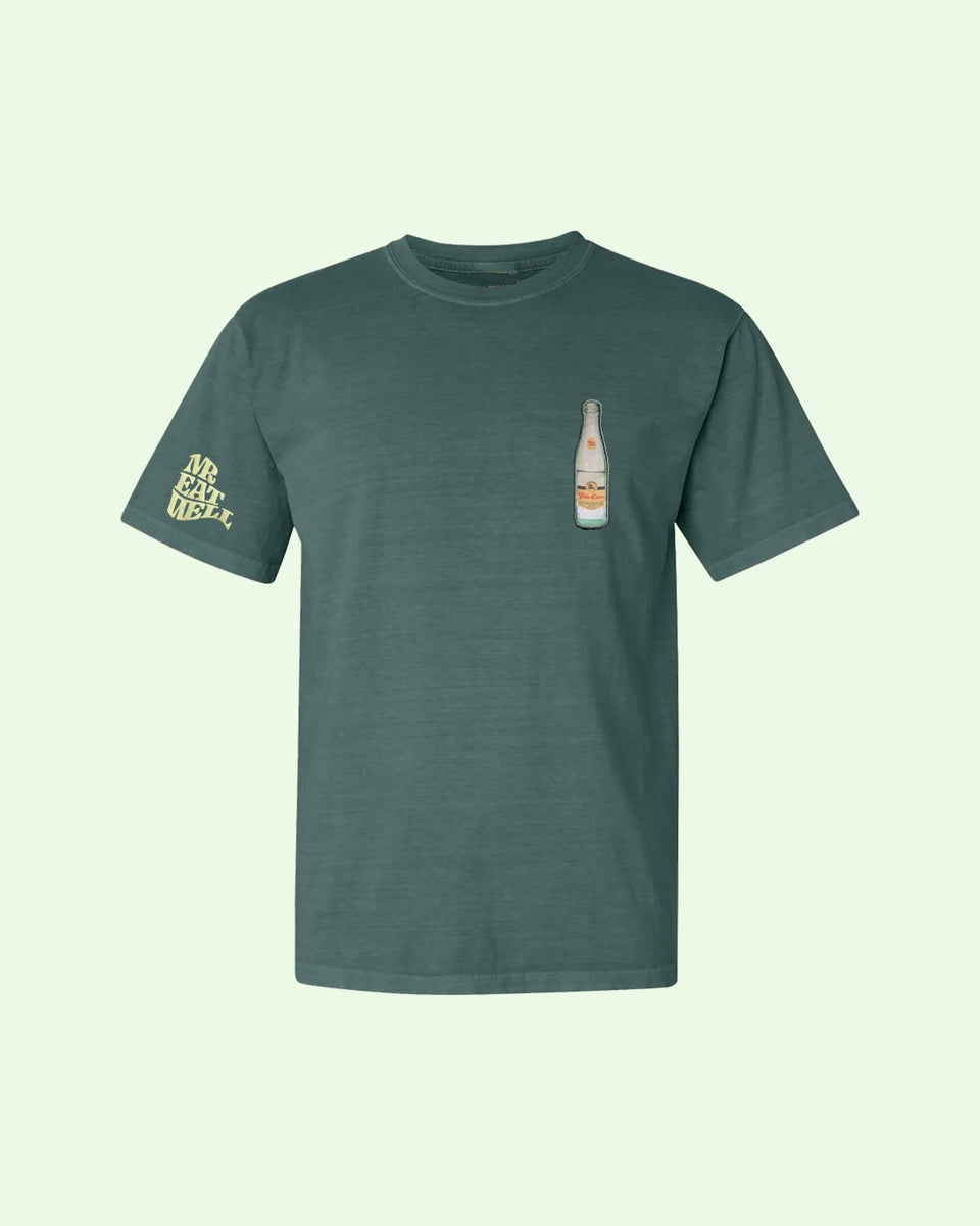 "Take Care SS Tee in ""If Spa Water Was a Color"" Green - MR EATWELL"