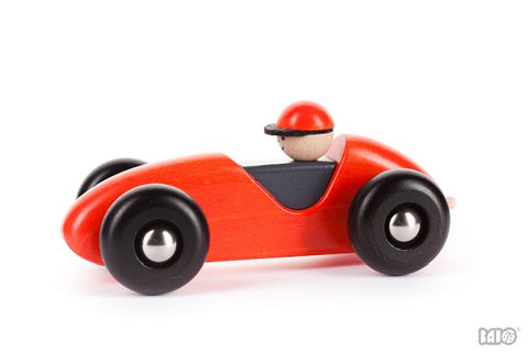 Left-Right Wooden Toy Racing Car