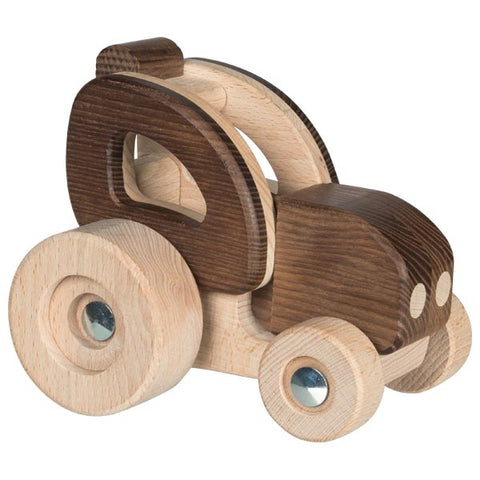 Natural Wood Tractor Toy