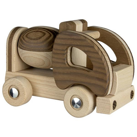 Wooden Cement Mixer Construction Toy