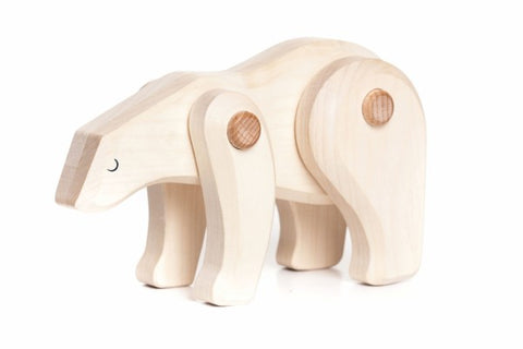 Natural Wood Polar Bear Toy