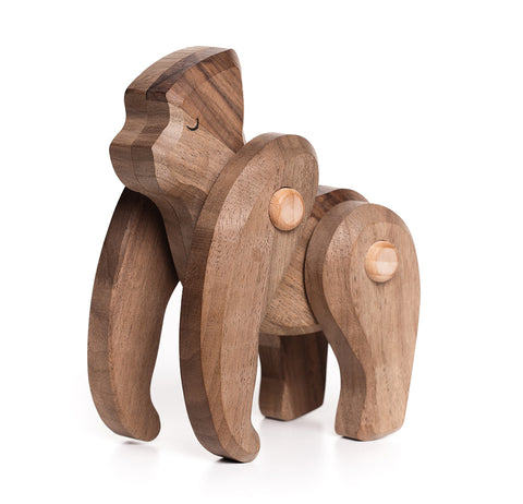 Natural Wood Gorilla Toy