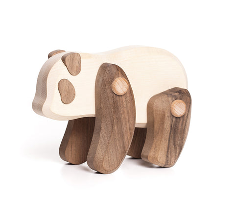 Natural Wood Panda Toy