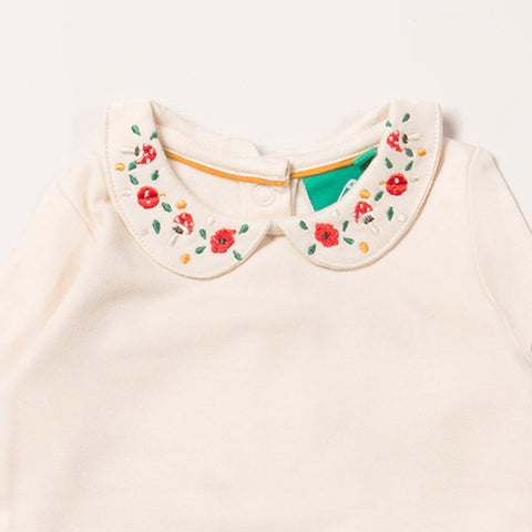 Embroidered Toadstool Baby Body Suit