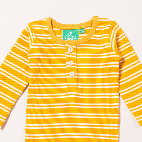 Gold Stripes Forever Long Sleeved Baby Bodysuit