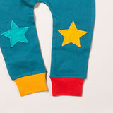 Organic Fair Trade Star Joggers - Teal