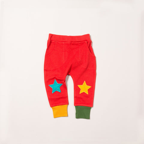 Organic Fair Trade Star Joggers - Red