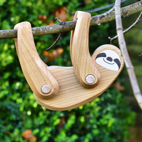 Natural Wood Sloth Toy