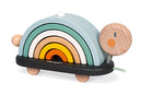 Wooden Pastel Rainbow Turtle Toy