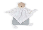 Organic Cotton Doudou Bear Baby Comforter - Grey