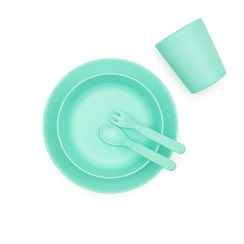 Bamboo Children's Dinner Set - Mint