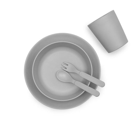Bamboo Children's Dinner Set - Pebble