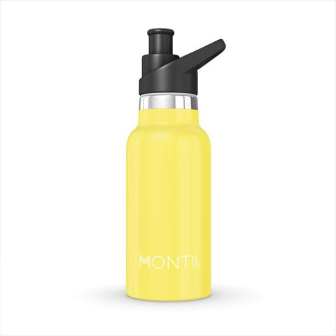 Montii Mini Insulated Steel Child's Water Bottle, 350ml - Yellow
