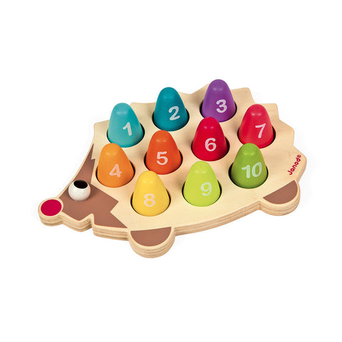 Learn-to-Count Wooden Hedgehog Learning Toy