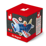 Magnetic Wooden Aeroplane Puzzle Toy
