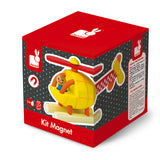 Magnetic Wooden Helicopter Puzzle Toy