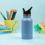 Montii Mini Insulated Steel Child's Water Bottle, 350ml - Slate Blue