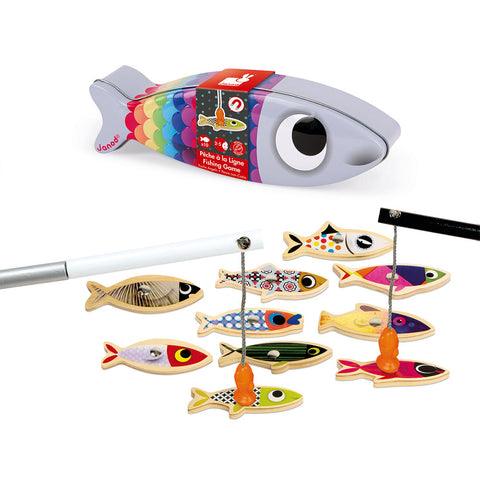 Sardine Magnetic Wooden Fishing Game