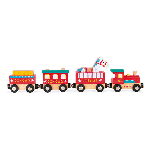 Wooden Magnetic Story Circus Train Toy