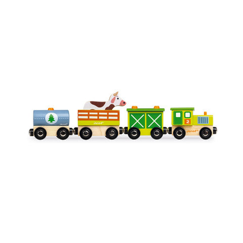 Wooden Magnetic Story Farm Train Toy