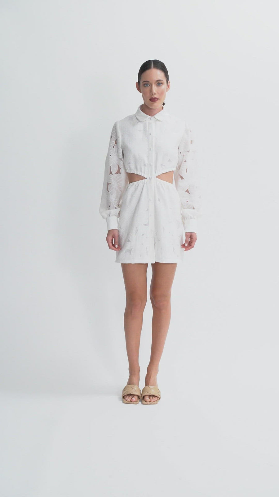 The Estelle Mini Dress | White