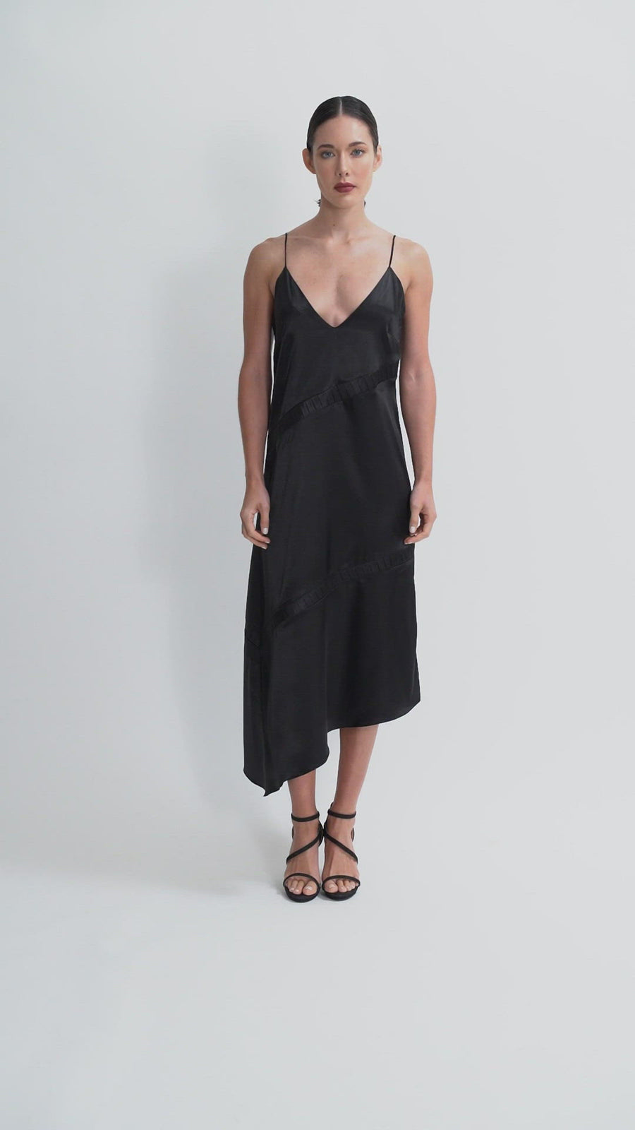 The Filomena Midi Dress | Black