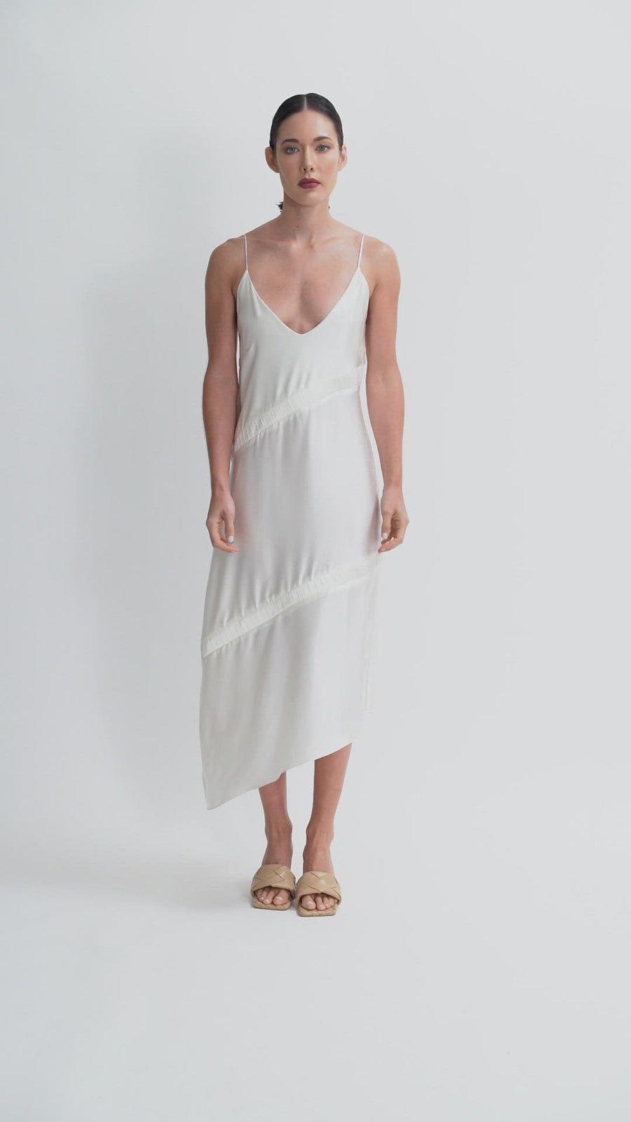 The Filomena Midi Dress | Off White