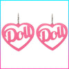 "Beauty ""Doll"" Heart Earrings"