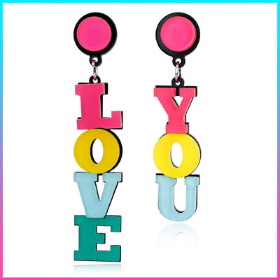 Stylish Love You Earrings!