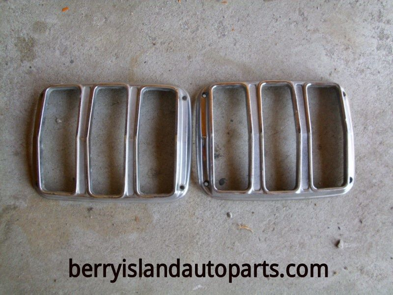 1965 Ford Mustang tailight bezels pair