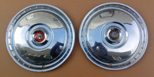 1956 Ford wheel covers pair