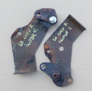 1960 Chevrolet bumper brackets center