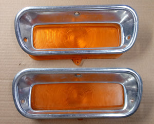 1960 Chevy truck turn signal lens with bezel 2 in stock