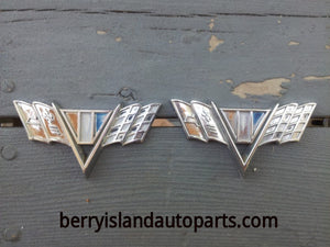 1964-67 Chevrolet v-flag racing flag front fender emblem