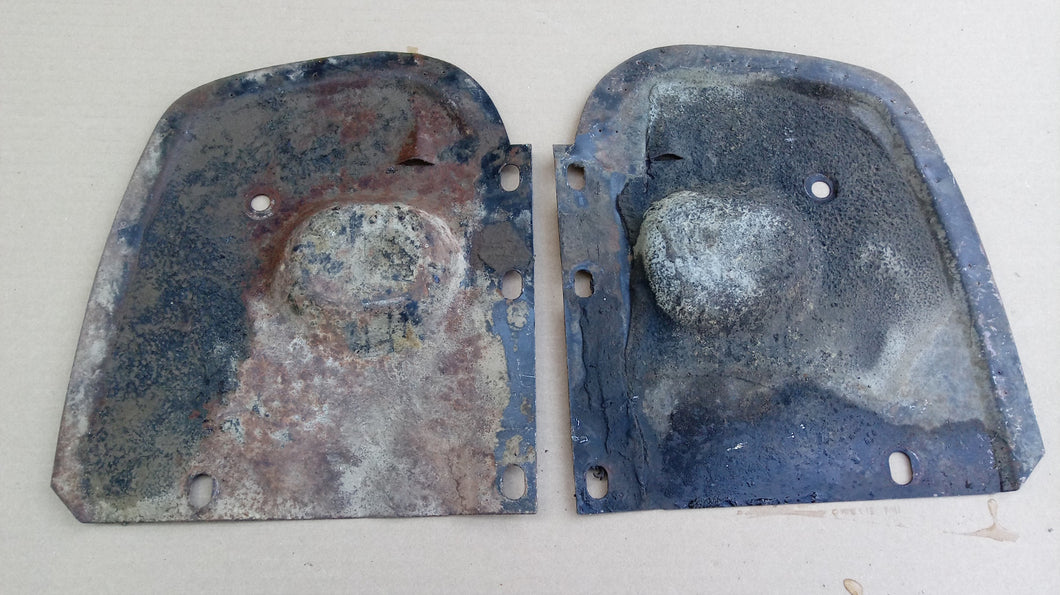 1964 Ford Galaxie fender well backing plates pair