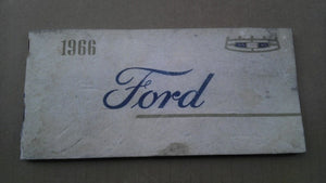 1966 Ford owners manual