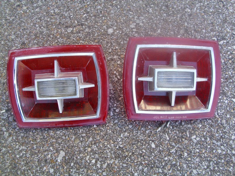 1966 Ford Galaxie taillight lenses pair