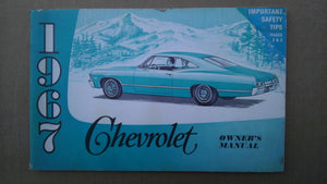1967 Chevrolet Impala owners manual