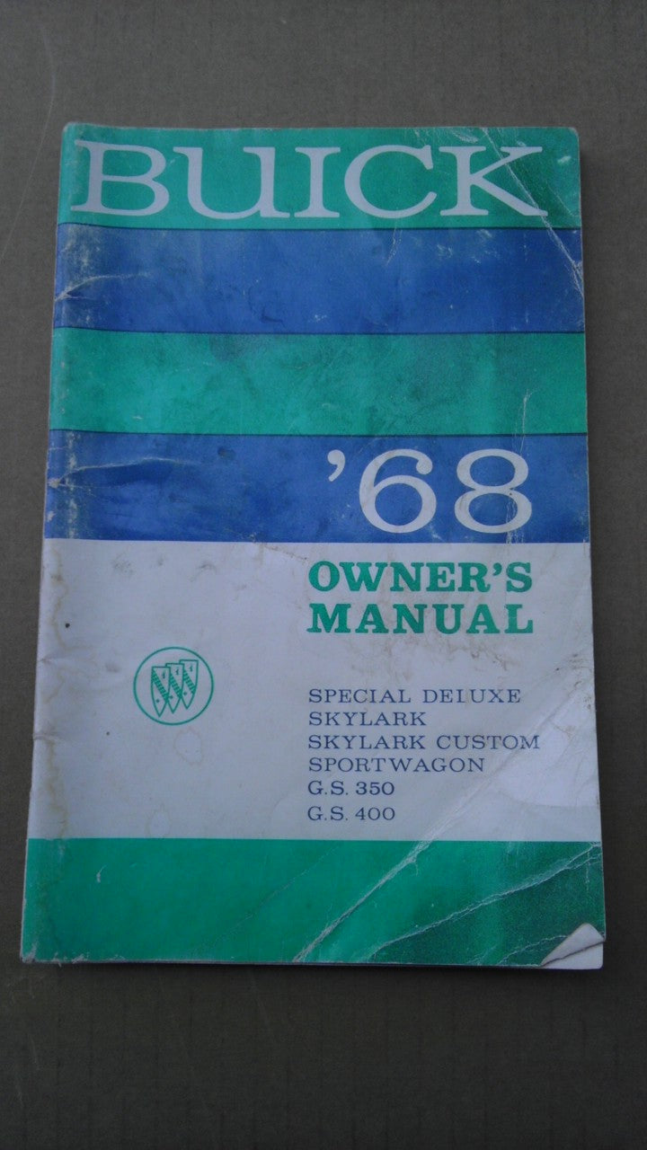 1968 Buick owners manual