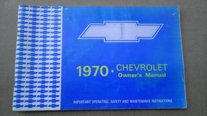 1970 Chevrolet owners manual