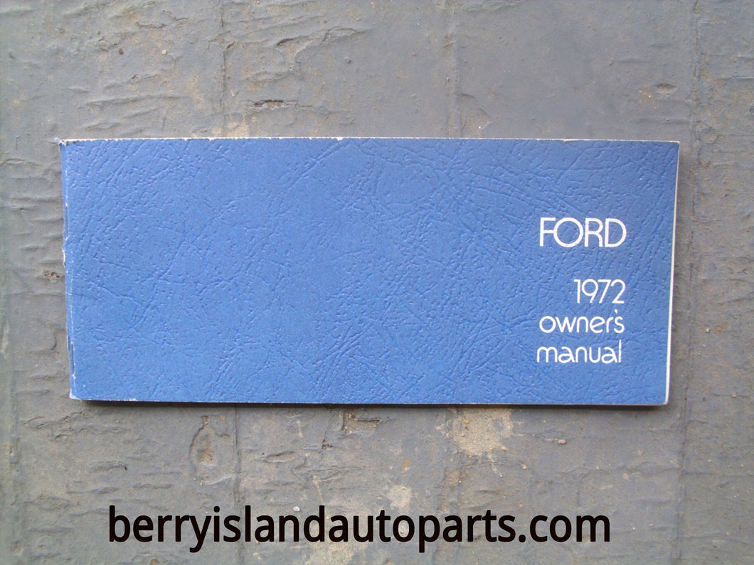 1972 Ford owners manual