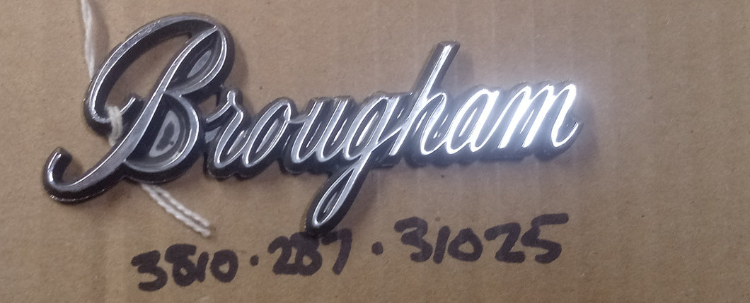 1973-74 Valiant 73 Plymouth Fury Brougham Nameplate