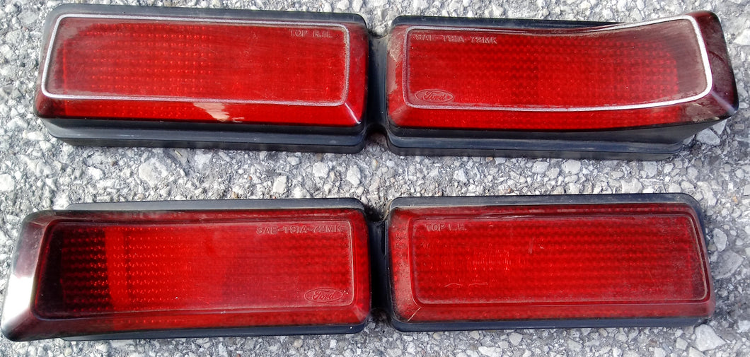 1972 Lincoln Continental MKIII taillight lenses pair