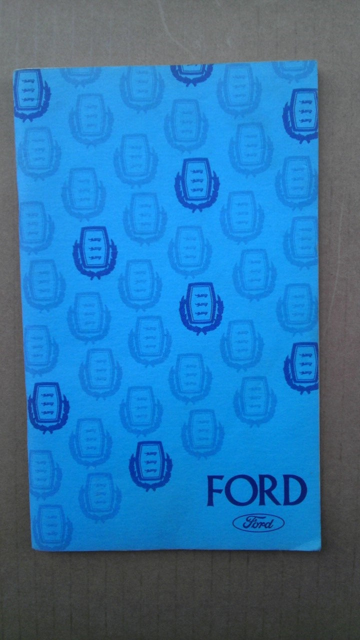 1975 Ford owners manual