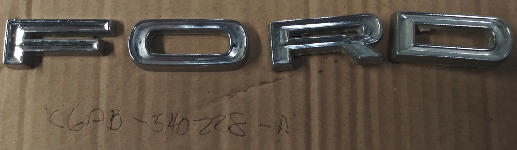 1966 Ford Galaxie trunk letters