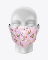 Rex Fabrics Fashion Mask Pink Background Ice Cream Pattern Cotton and Neoprene Reversible